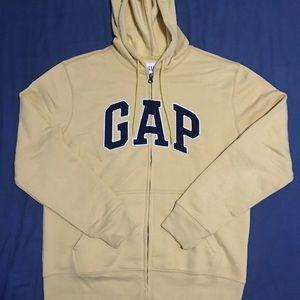 Men's Gap Logo Full Zip Up Hoodie Sweater